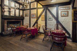 fireplace white horse tavern english style pub